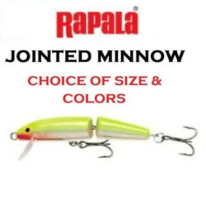 Rapala Jointed Minnow Choice of Sizes amp; Colors