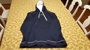Blue and White Mens Under Armour Hoodie XL
