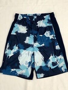 Nike Boys Youth Dry Dri-fit Blue Multi Athletic Running Shorts Size Large