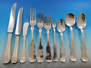 Grandma Milford by Porter Blanchard Sterling Silver Flatware Set w 12 Chargers