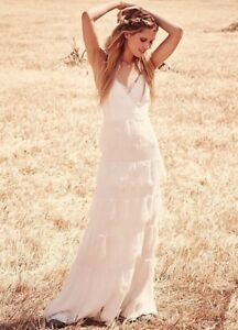 NEW Free People x Erin Fetherston Tiered White Wedding Dress Size 4