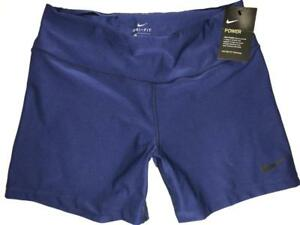 womens POWER TRAINING  SHORTS L Navy Blue compression 5