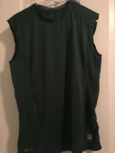 Nike Pro Combat Dri-Fit Fitted Sleeveless Men's Athletic Shirt Top Sz L Green