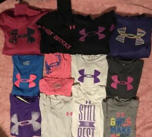 UNDER ARMOUR Lot 12 Heat Gear Shirts Hoodies Sweatshirts Youth Extra Large YXL