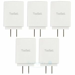 5x Fast Charge 2.0 USB 5V 3A Mobile Phone Wall Home Travel Fast Charger Adapter