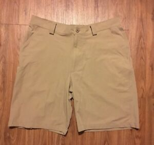 UNDER ARMOUR Men's Bent Grass Shorts 34 Golf Canvas Khakis 9