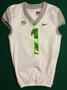 Oregon Ducks Nike Pro Combat Mach Speed Game Issued Jersey #1 Springs