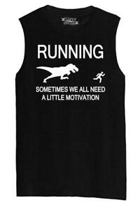 Mens Running Sometimes We Need Little Motivation Funny Gym Shirt Muscle Tank $14.03