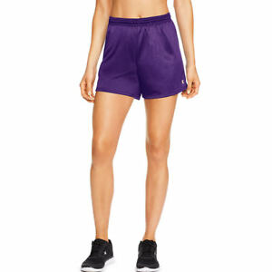 2 Champion Women's Mesh Lightweight Shorts Relaxed Fit - 7 COLOR CHOICES