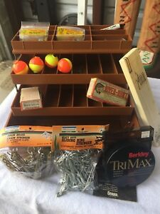 FENWICK FISHING TACKLE BOX FULL OF SUPPLIES ALL NEW IN PACKAGE NIP NEVER USED!