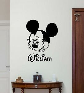 Personalized Name Mickey Mouse Wall Decal Custom Vinyl Sticker Baby Decor 262crt