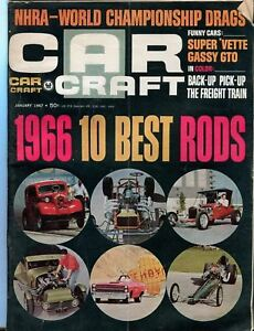 1967 January Car Craft Magazine Back Issue 1966 10 Best Rods