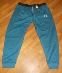 Nwt Mens Under Armour Teal Blue Cold Gear Jogger Sweatpants 2XL $75