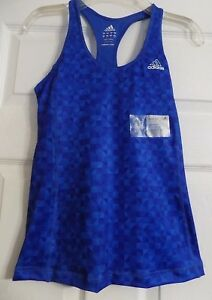 NEW Women's Adidas Quick Dry Training Fitness Gym Sleeveless Tank Top Shirt S