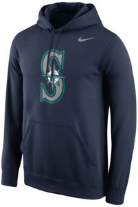 Nike Seattle Mariners Logo Therma-Fit Performance Hoodie NEW