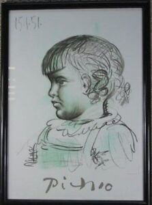Pablo Picasso Lithograph by Marina Picasso Collection 1982:
