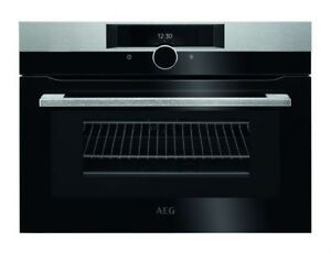 AEG KMK861000M CombiQuick Compact Built In Microwave Black/Stainless Steel