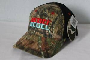 New Mens Rebel Baseball Cap Mossy Oak Camo Trucker Hat Fishing Lures Bait Minnow