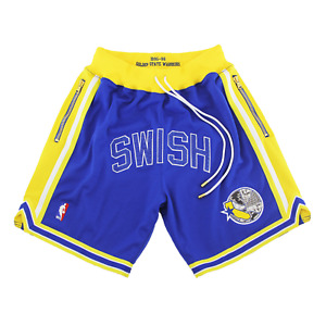 CUSTOM AUTHENTIC GOLDEN STATE WARRIORS MITCHELL NESS NBA SHORTS just don nike