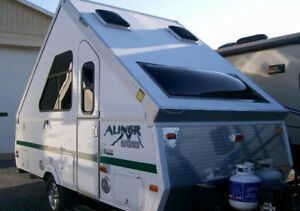 2012 Aliner Expedition folding A-frame camping trailer