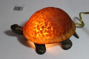 Tiffany Style Stained Glass Turtle Electric Night Light Beatiful collectible