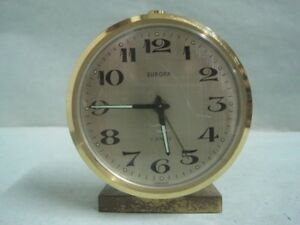 Antique desktop table clock Europa 2 Jewels made in Germany works (1)