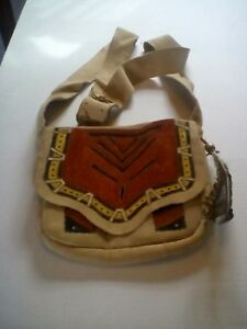 Handmade Leather Possibles Bag with Adjustable Strap and Multiple Inside Pockets
