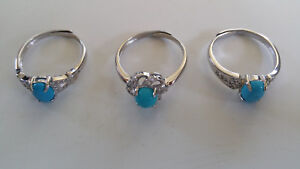 Huge wholesale lot 50,000 Sterling silver rings with turquoise and CZ not scrap