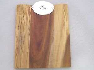 Mudpie Small Wood Cheese Board Serving Tray w/ Metal