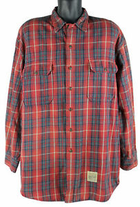 Neil Young 2004 Stage Performance Worn Abercrombie And Fitch Flannel Shirt