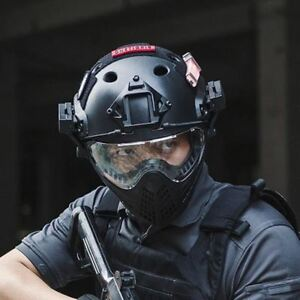 OneTigris Tactical Integrated Helmet F22 with Removable Face Mask and Goggles