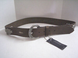 Harley-Davidson Men's Belt Bar & Shield Logo Design Brown Medium Brand New