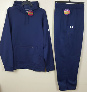 UNDER ARMOUR COLDGEAR INFRARED SWEATSUIT HOODIE + PANTS NAVY BLUE NEW (SIZE 3XL)