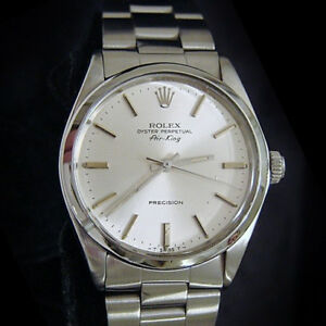 Rolex Air King Mens Stainless Steel Precision Watch Oyster Band Silver Dial 5500 $3495.98