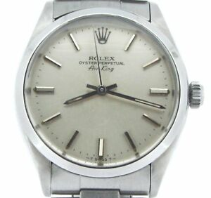 Rolex Air King Mens Stainless Steel Watch Oyster Band Bracelet Silver Dial 5500 $3495.98