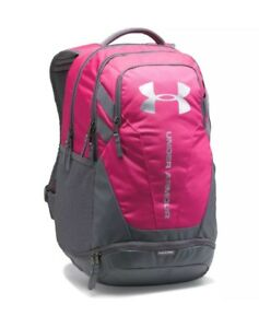 NEW Under Armour Heat Gear UA Storm Hustle 3.0 Water Resistant Backpack Pink