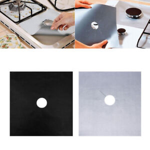 Reusable Gas Range Stove Top Burner Protector Liner Cover For Cleaning - Pack 4