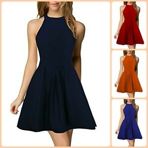 Evening Casual Cocktail Short Mini Dresses For Women Elegant Party Backless