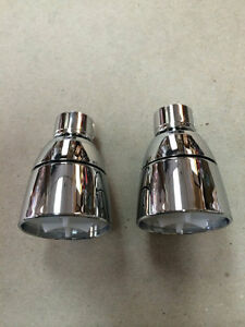 2 New Mobile Home Parts Shower Heads Only 1 2quot; Chrome Plastic