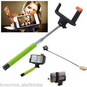 New Extendable Selfie Stick Handheld Remote Bluetooth Shutter Fit iPhone 7 Plus