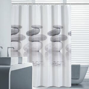 Curtain bath fabric Waterproof Resistant mold 70 78x70 78in 12 Rings
