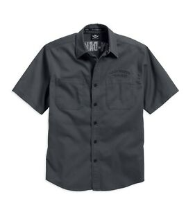 Harley-Davidson® Men's Flames Woven Shirt Short Sleeve - 99007-16VM