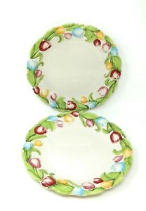 Temp-tations Figural Floral Dinnerware Dinner Plate Replacement Set of 2 H204924