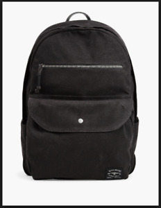 Lucky Brand Black Canvas Zip Around Backpack w Laptop Sleeve ~ NWT ~ MSRP $128