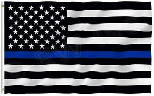 Quality Thin Blue Line American Police Flag 3X5#x27; FADE Resistant Stars amp; Stripes