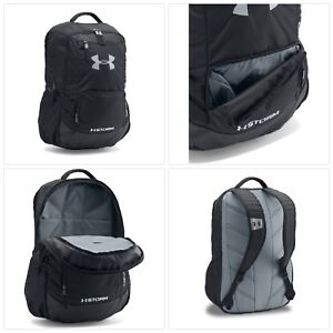 Under Armour Storm Hustle II Backpack Black (001)Silver One Size FREE SHIP