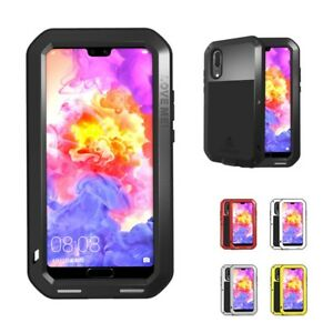 Armor Shockproof Heavy Duty Aluminum Silicone Case Cover for Huawei P20 ProLite