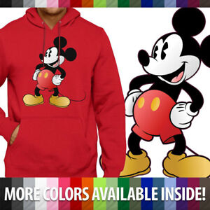 Classic Retro Original Disney Mickey Mouse Pullover Hoodie Jacket Hooded Sweater $33.64