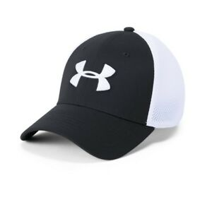 Under Armour Men's Microthread Golf Mesh Cap BlackWhite ML FREE SHIPPING
