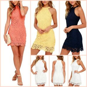 Women Casual Short Mini Dress Cocktail Party Small Medium Large Summer Beach New